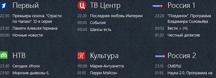 ТВ-каналы в Зоне